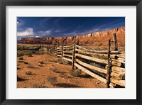 Framed Vermillion Cliffs National Monument Old Corral