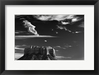 Framed Vertical Castle Rock Sedona Arizona National Forest