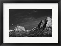 Framed Moon Over The Red Rocks Sedona Arizona 1