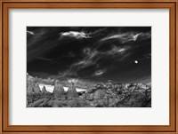 Framed Moon Over The Red Rocks Sedona Arizona 2