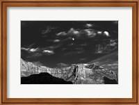 Framed Moon Over The Red Rocks Sedona Arizona 3
