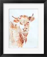 Framed Village Cow