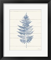 Framed Fern Print I Blue Crop
