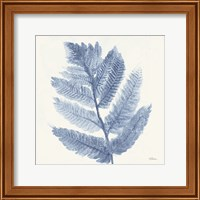 Framed Forest Ferns I Blue