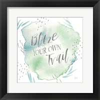 Wonderful World VII Blue Green Framed Print