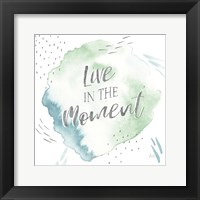 Wonderful World V Blue Green Framed Print