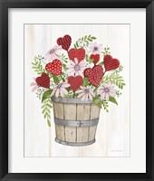 Framed Rustic Valentine Bushel Basket