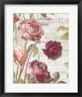Framed French Roses II