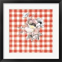Framed Sketchbook Garden X Red Checker