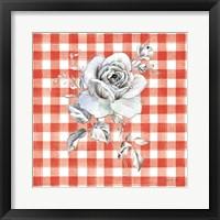Framed Sketchbook Garden IX Red Checker