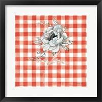 Framed Sketchbook Garden VIII Red Checker