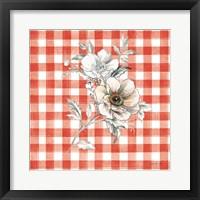 Framed Sketchbook Garden VII Red Checker