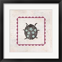 Framed Ladybug Stamp Bright