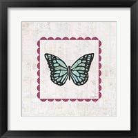 Framed Butterfly Stamp Bright