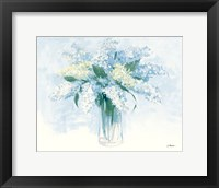 Framed Contemporary Lilac Blue