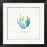 Framed Bohemian Cactus VII