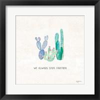 Framed Bohemian Cactus VI
