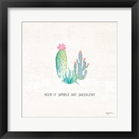 Framed Bohemian Cactus IX