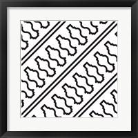 Framed Composizione Con Balaustra In Bianco E Nero