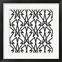 Framed Intersezioni Di Baveri In Bianco E Nero