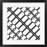 Framed Intersezioni Di Calici In Bianco E Nero