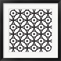 Framed Intersezioni Di Dischi In Bianco E Nero
