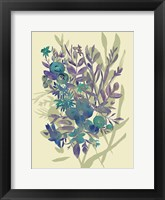 Framed Slate Flowers on Cream I
