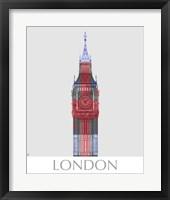 Framed London Big Ben Union Jack