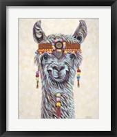 Hippie Llama I Framed Print