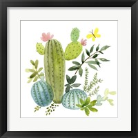 Framed Happy Cactus I