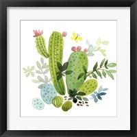 Framed Happy Cactus III