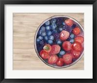 Bowls of Fruit III Framed Print