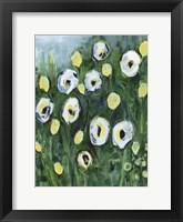 Framed Modern White Floral I