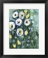 Framed Modern White Floral II