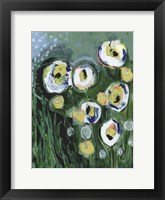 Framed Modern White Floral III