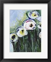 Framed Modern White Floral IV
