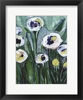 Framed Modern White Floral V