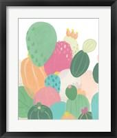 Framed Cactus Confetti I