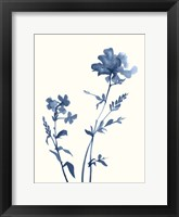 Framed Indigo Wildflowers VI