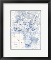 Framed Africa in Shades of Blue