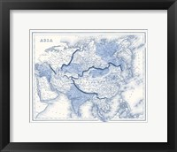 Framed Asia in Shades of Blue