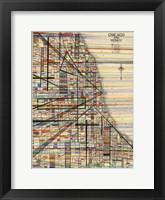 Framed Modern Map of Chicago