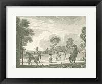 Equestrian Scenes II Framed Print
