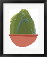 Mod Cactus III Framed Print