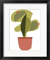Mod Cactus V Framed Print