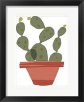 Mod Cactus VII Framed Print