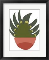 Mod Cactus IX Framed Print