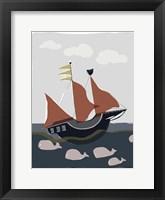 Framed Oceans Ahoy II