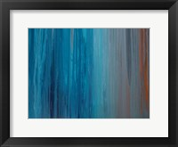 Framed Drenched in Teal II
