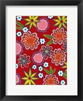 Framed Bright Flowers I